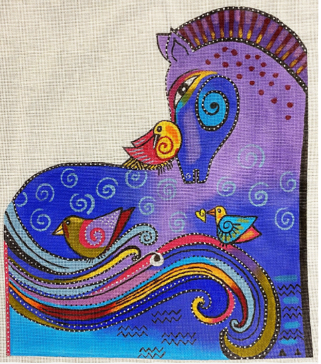 Laurel Burch:LB-150 (Colorful Aquatic Mares)