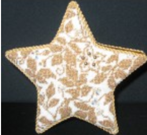 "Teri's Brocade Gold Star 10"" Tree Topper 11821"