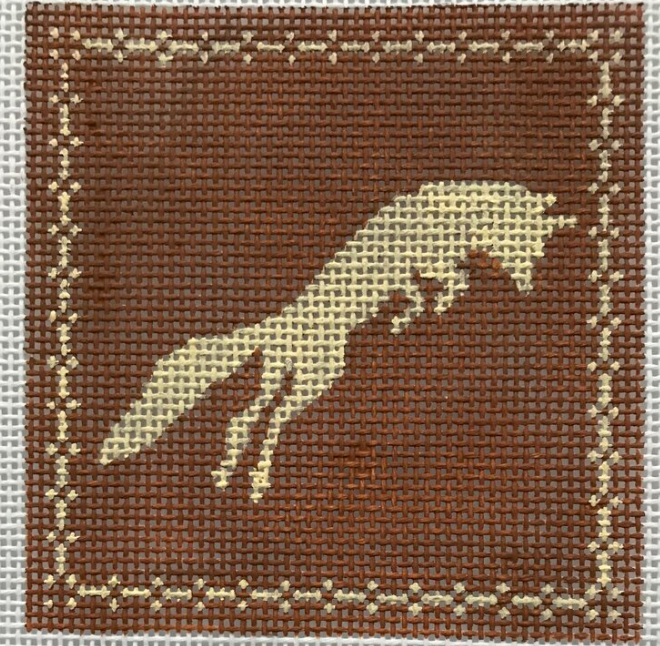 Copy of AL180 Brown and Tan Leaping Fox Square