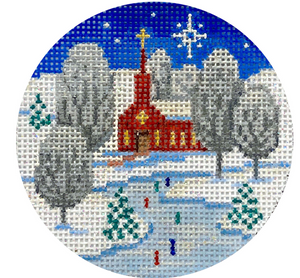 Church Scene Ornament