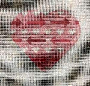 Pink Heart with Arrows V01