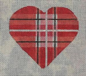 Heart Red and White Plaid V02