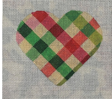 Heart Pink and Green Ribbons V03