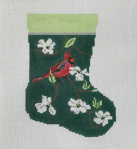 Cardinal and White Dogwood (small stocking)