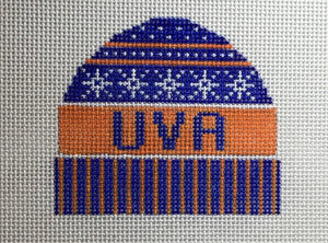 UVA Ski Hat Ornament