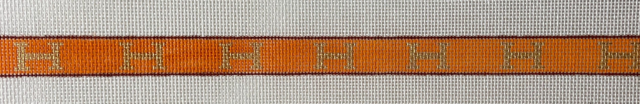 Sunglass Strap – Hermès H's – gold, brown & orange