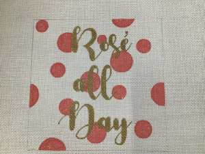 Rose all Day Polka Dot Square
