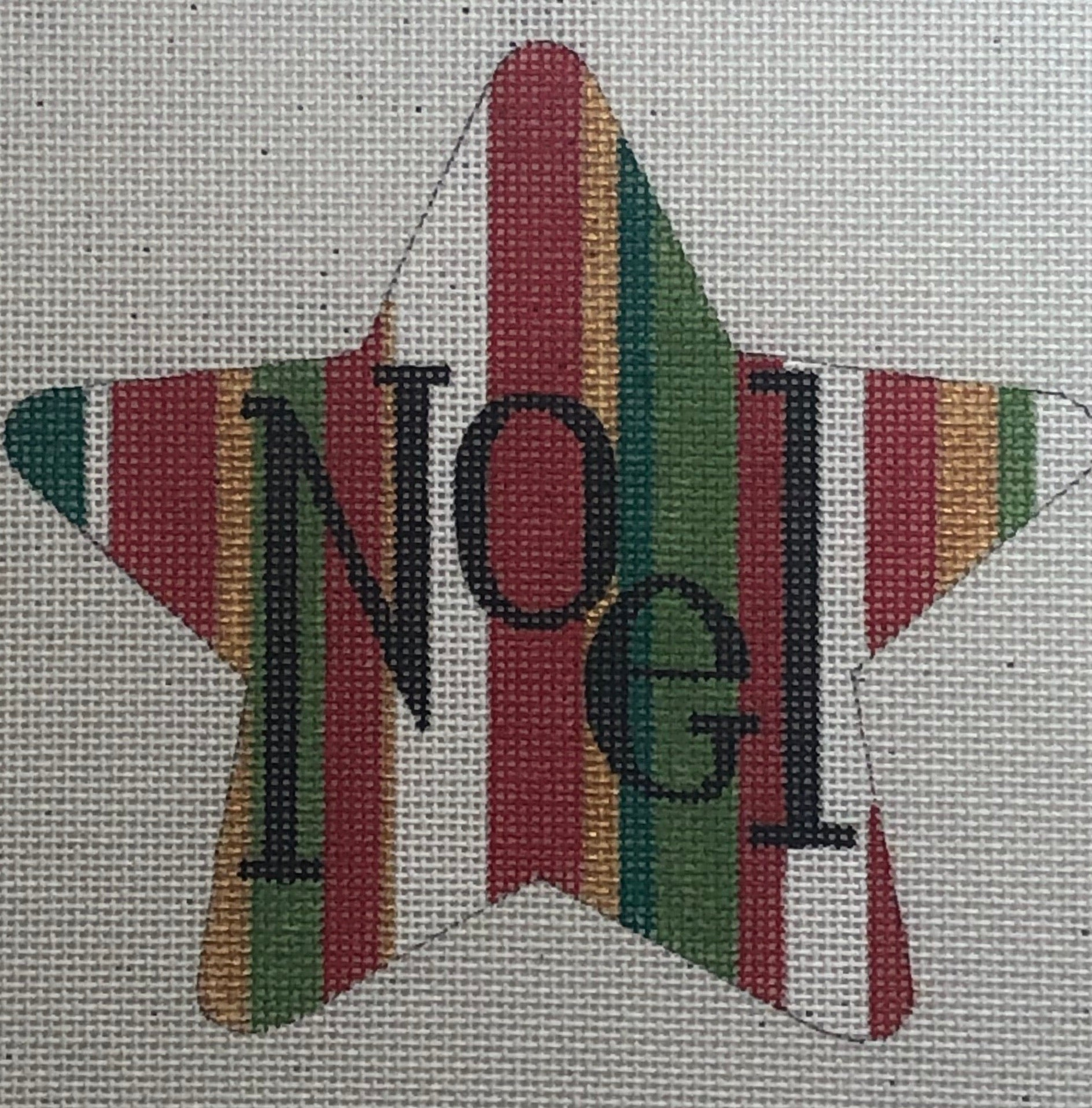 Striped Noel Star HO792