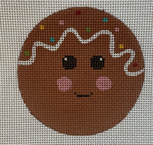 Gingerbread Face Ornament or Coaster