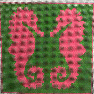 ap2338 Seahorse Pink and Green