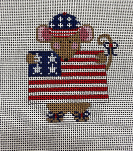 Patriotic Mouse Ornament ch596