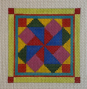 Quilt like coaster, patch or ornament 639D