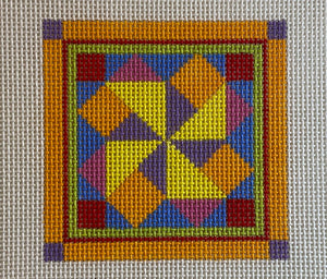 Quilt like coaster, patch or ornament 639A
