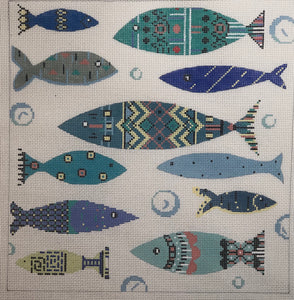 ap2900 blue patterned fish
