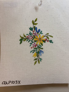 Small Floral Cross 103X