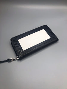 Zip top Wallet Alligator black