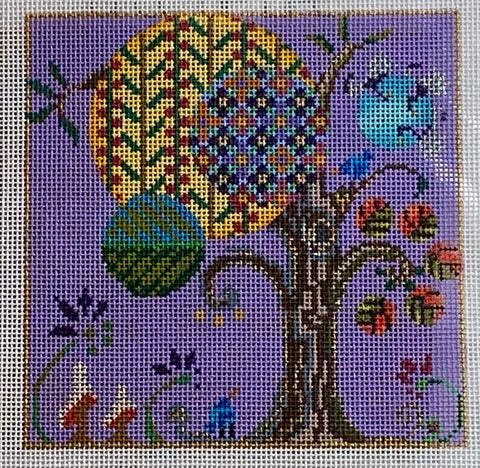 Floral graphic tree 7153