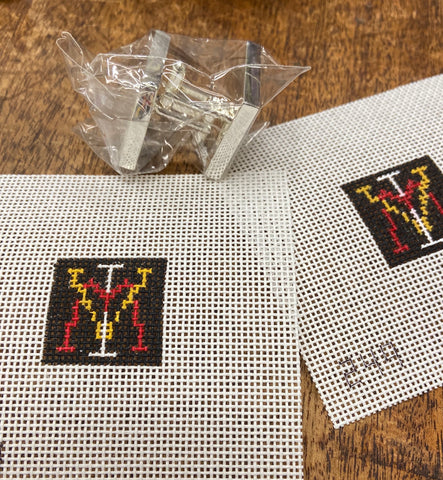 "1"" VMI Cuff Links - 2 canvases and cuff link hardware"