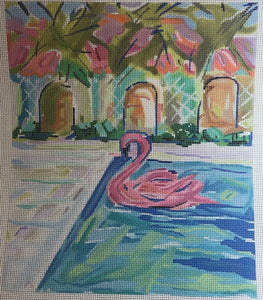 Maren Devine - Flamingo Floatie in Pool