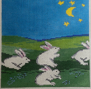 Bunnies in a field SVG649