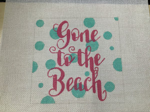 Beach Bum Polka Dot Square