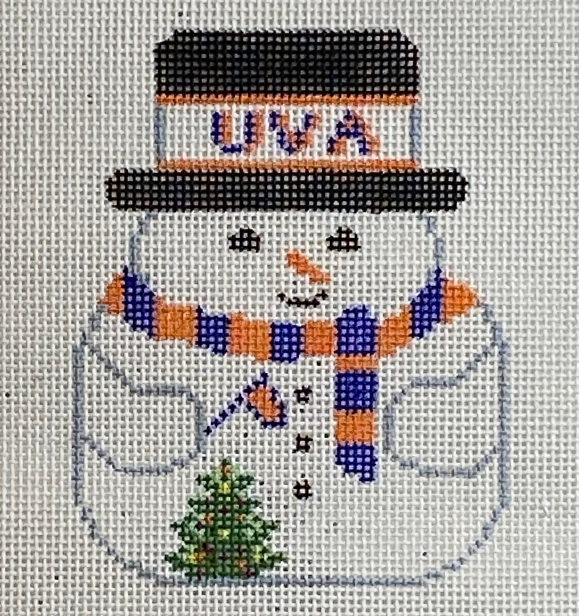 UVA Snowman Ornament 0-95