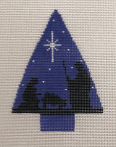 Tree with Nativity Scene