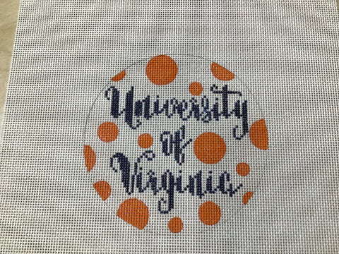 University of Virginia Polka Dot Round