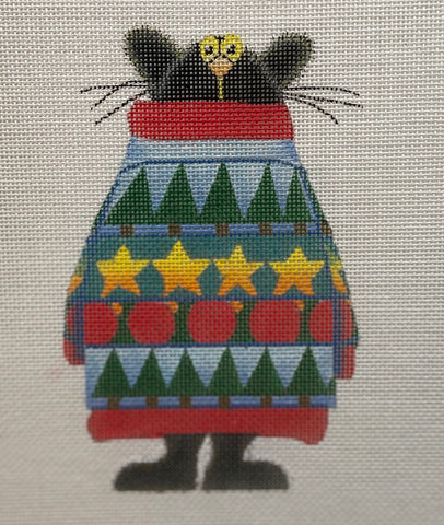 Cozy Cat in Sweater ZELR116
