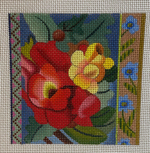 Floral Coaster, Patch or Ornament 640C