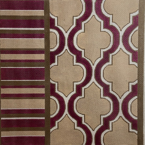 Latice and stripe design 2209