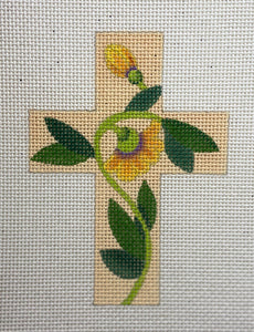 Small Floral Cross 106F