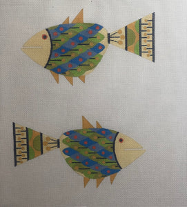 ze603 Fish double sided ornament