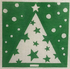 D5115 Small Christmas Tree Green with Stars
