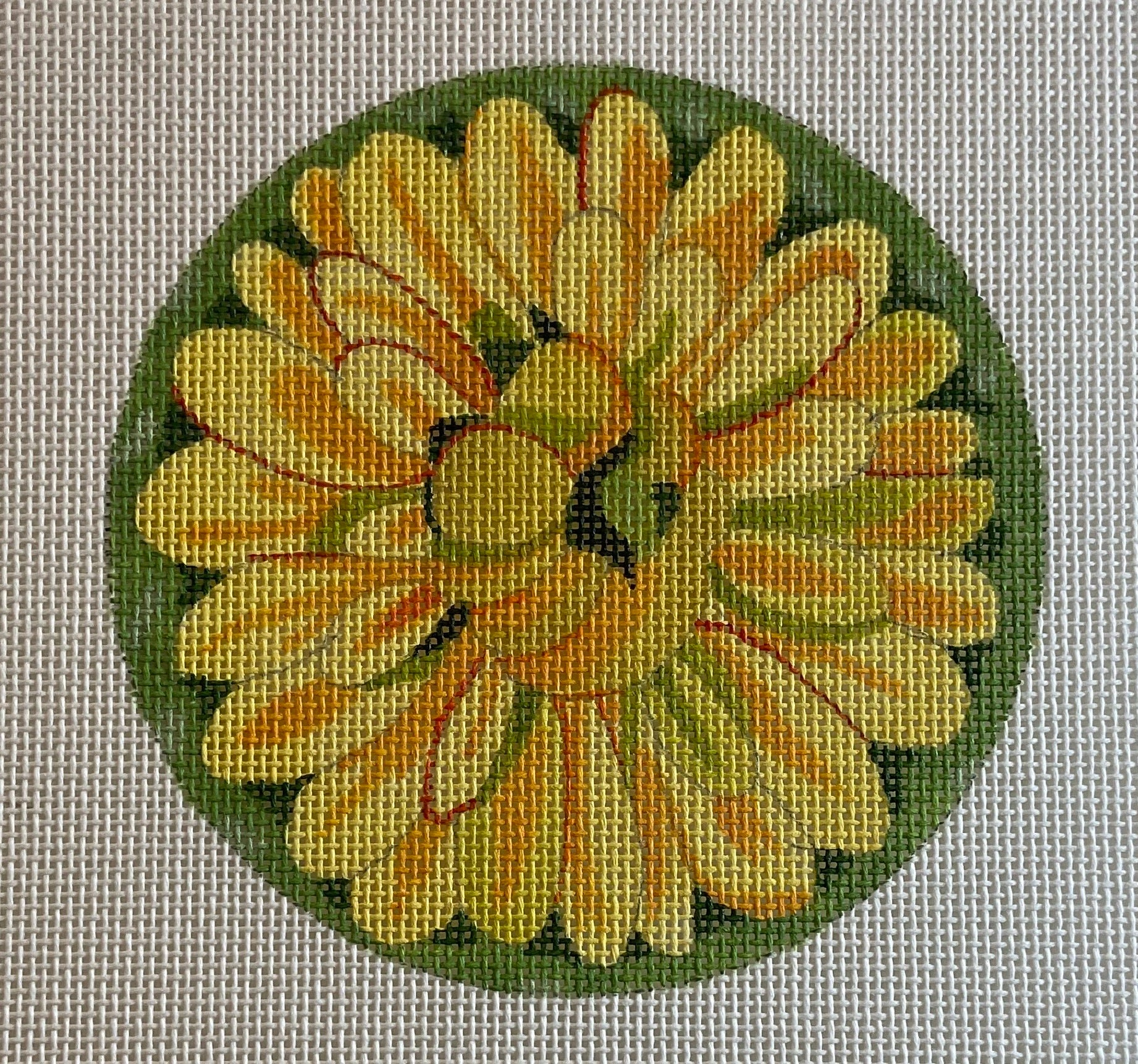 Floral Coaster, Patch or Ornament 701E