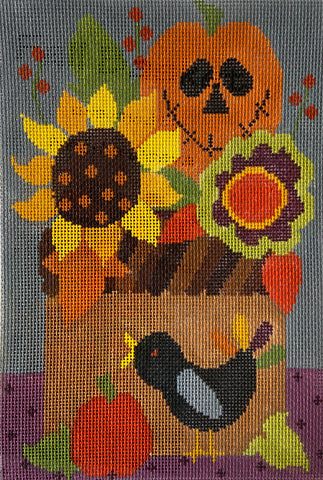 565A Fall Florals - with stitch guide