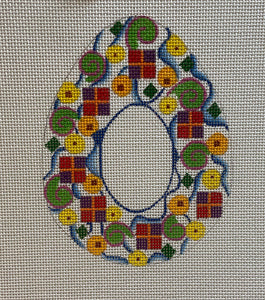 Geometric Oval Frame or Pillow 270M