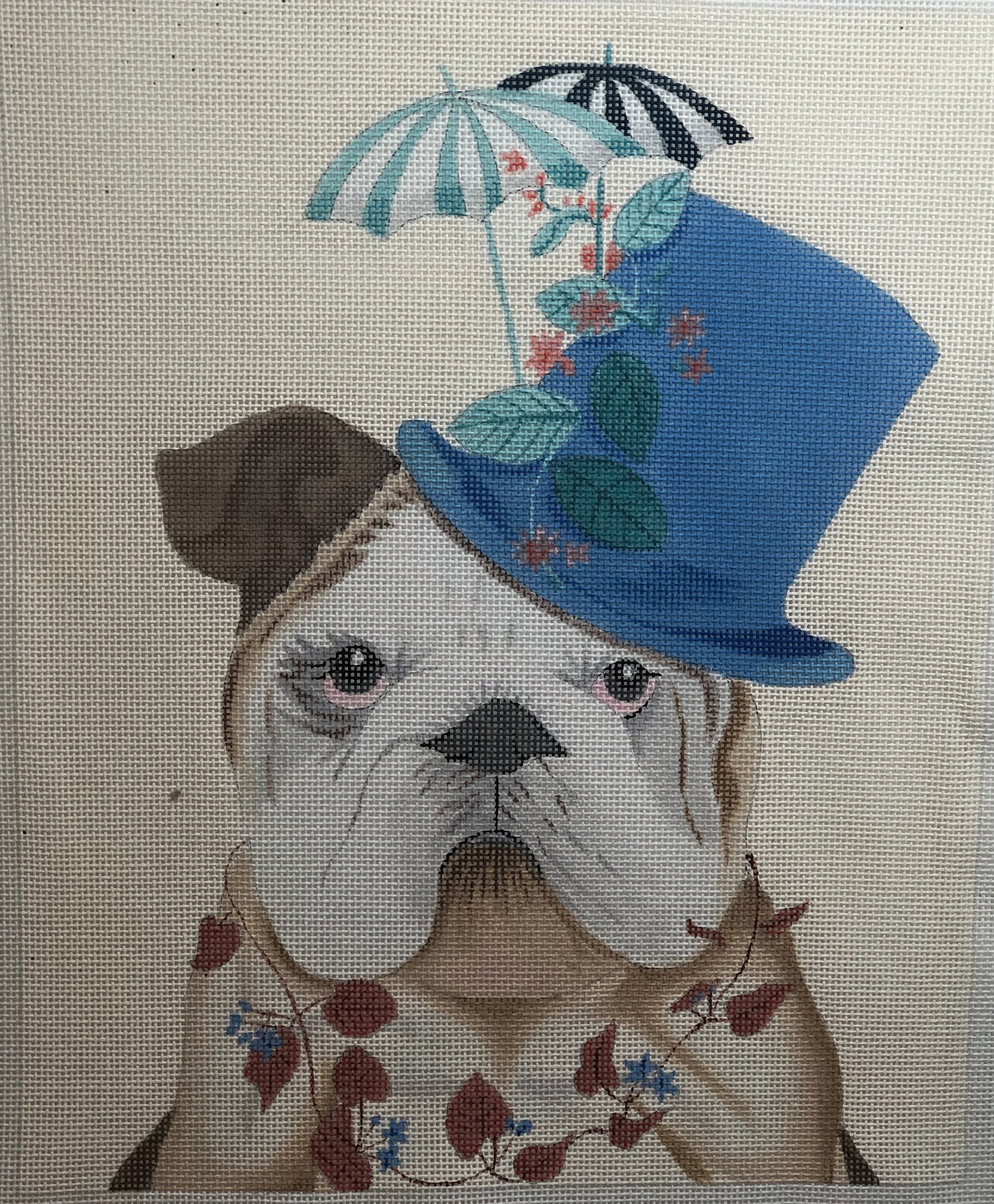 FF01 BULLDOG WITH MILLINERS HAT