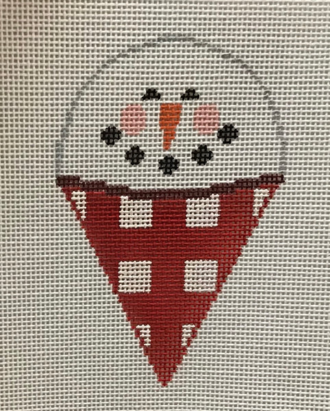 Snow man cone with stitch guide SH651 and SH652