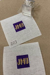 "1"" JMU Cuff Links - 2 canvases and cuff link hardware"