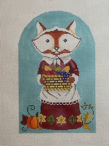 Fall Fox and basket 3012G