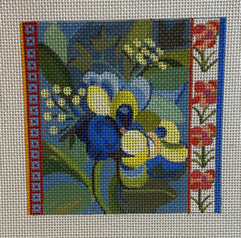 Floral Coaster, Patch or Ornament 640B