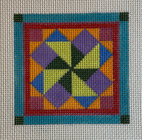 Quilt like coaster, patch or ornament 639C