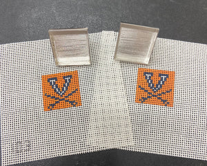 "1"" UVA Cuff Links - 2 canvases and cuff link hardware"