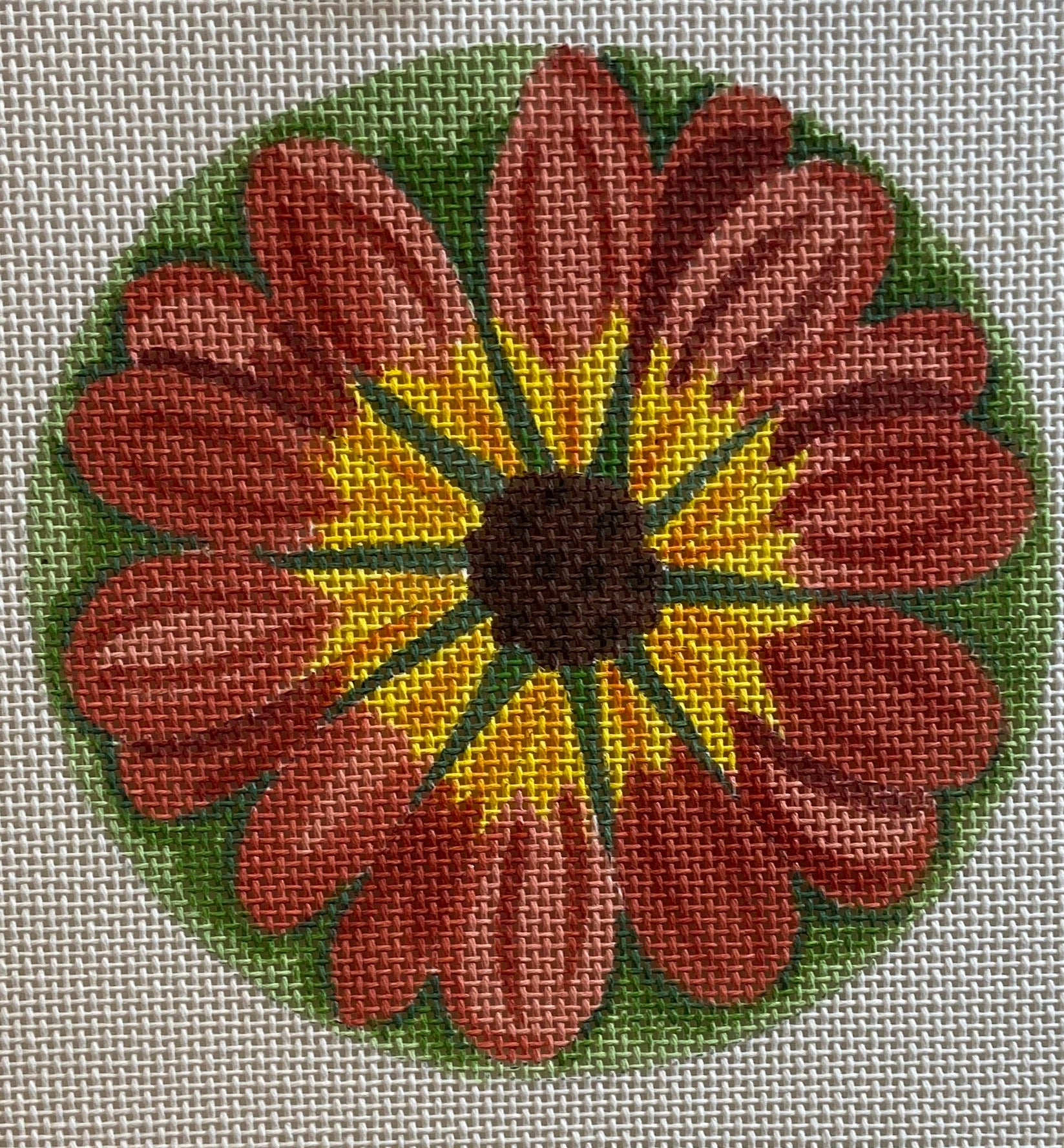Floral Coaster, Patch or Ornament 701D