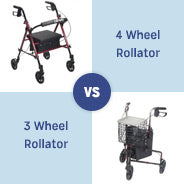 4 Wheel Rollators vs 3 Wheel Rollators