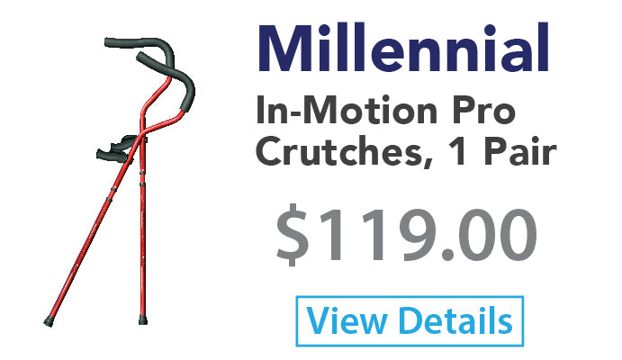 Millennial In-Motion Pro Crutches, 1 Pair