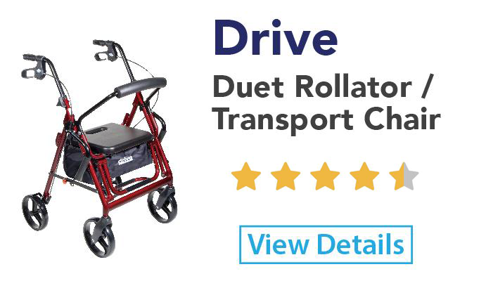 Drive Duet Rollator and Transport Chair in one