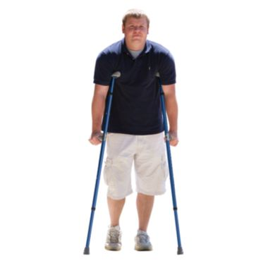Man Using Crutches