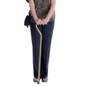 Woman using cane
